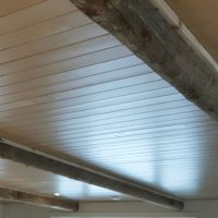 Ceiling Pine Beadboard and Barn Beams