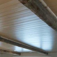 Ceiling Pine Beadboard and Barn Beams