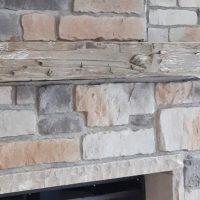 Stone Fireplace Barn Board Mantel