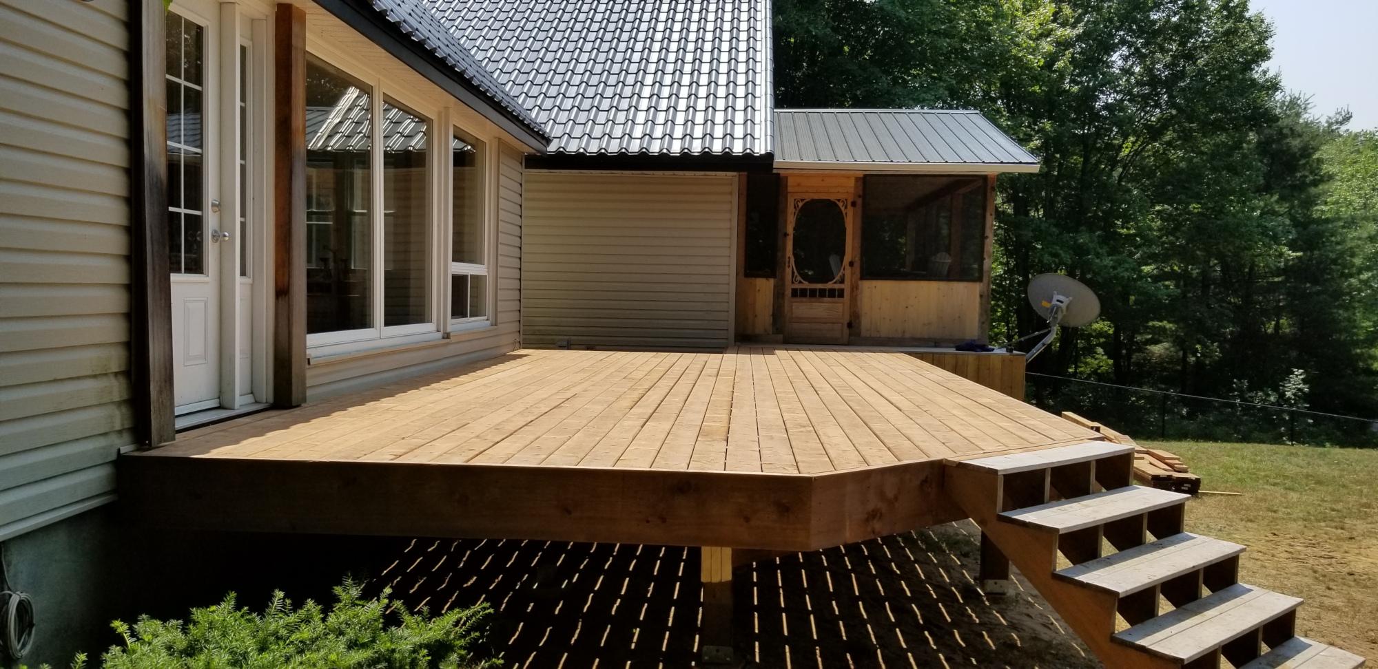 Deck Construction in Bala Ontario