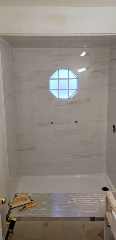 Walk in Tile Shower Progress