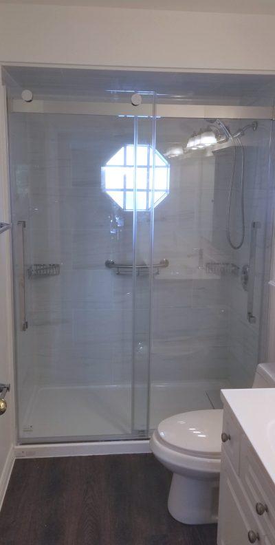 Completed Walk in Tile Shower